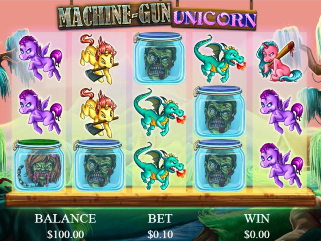 Obrázek casino automat Machine-Gun Unicorn zdarma