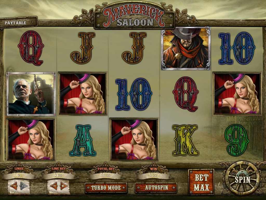 Zahrajte si casino automat Maverick Saloon