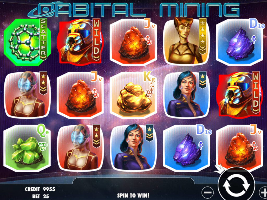 Casino automat Orbital Mining bez vkladu