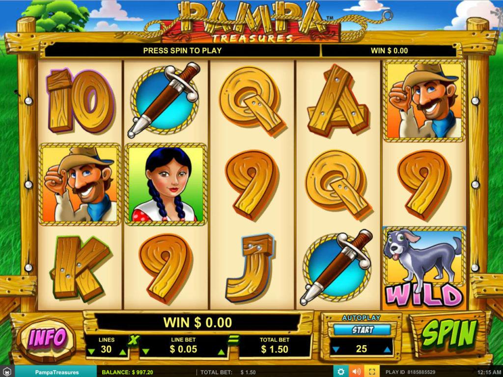 Online casino automat Pampa Treasures zdarma