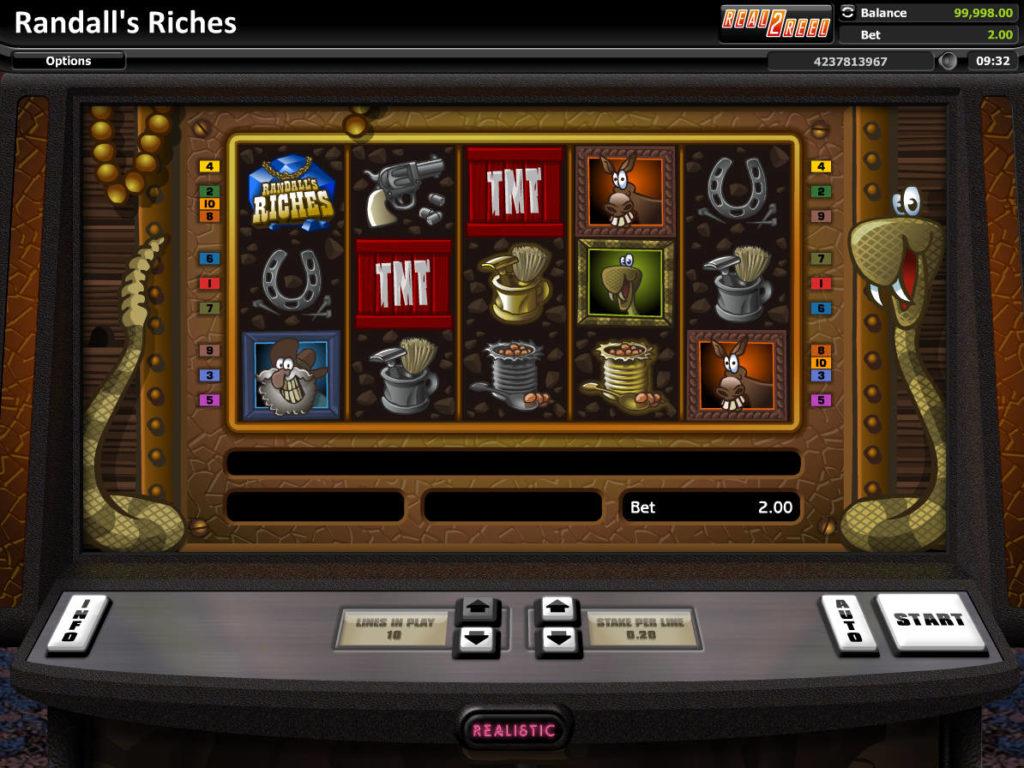 Online herní automat Randall's Riches zdarma, bez vkladu