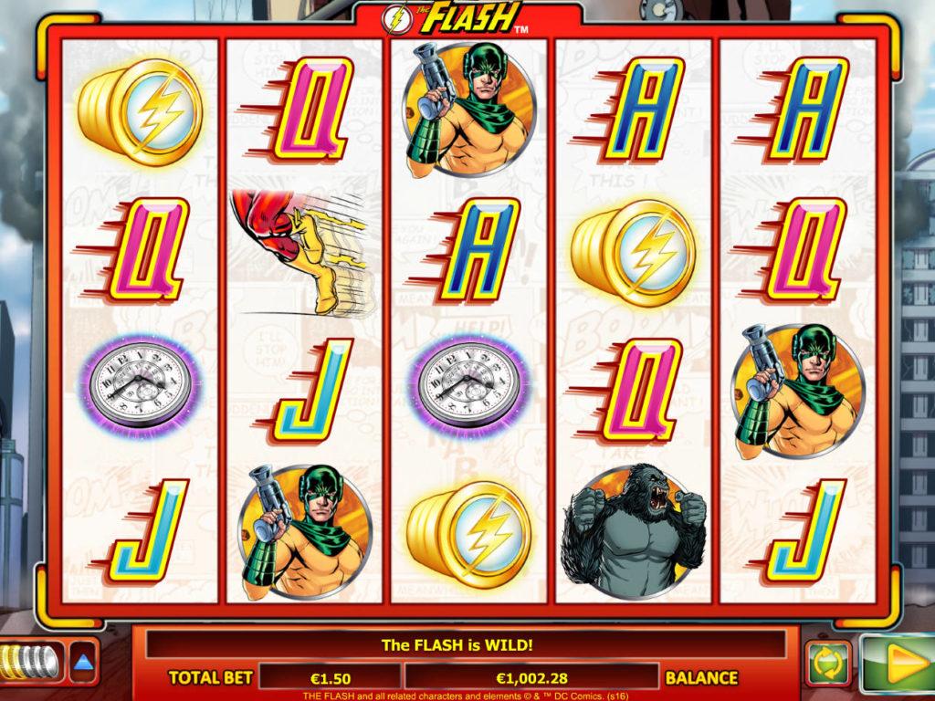 Online casino automat The Flash bez vkladu