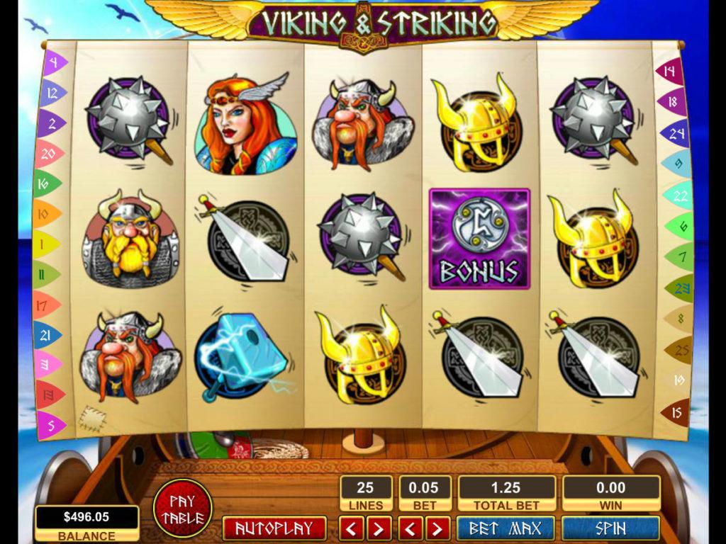 Casino automat Viking and Striking zdarma