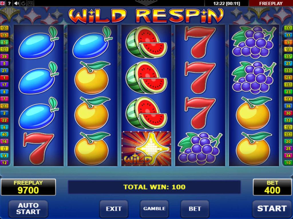Online casino automat Wild Respin bez vkladu
