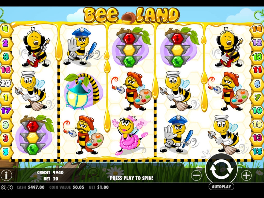 Online casino automat Bee Land zdarma