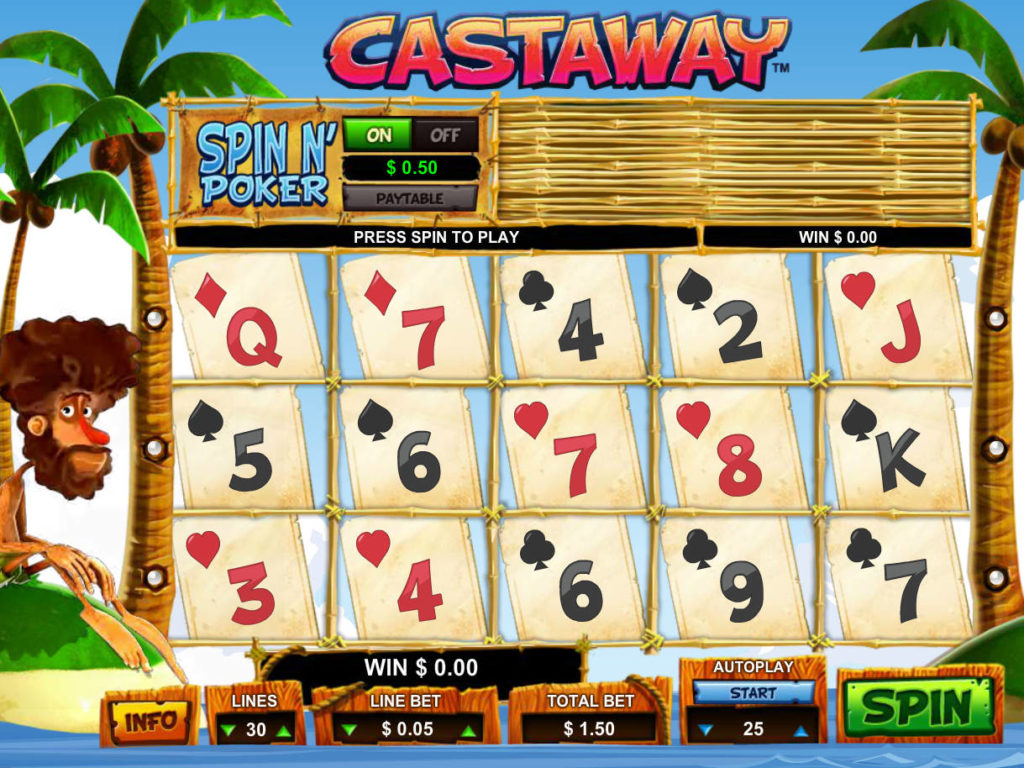 Roztočte online casino automat Castaway zdarma