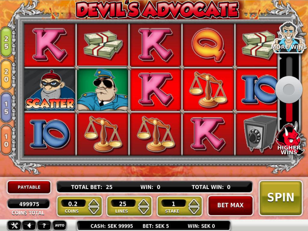 Online herní automat Devil's Advocate zdarma