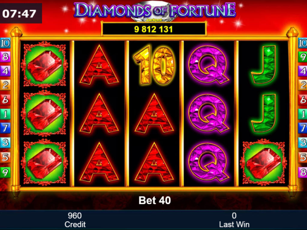 Casino hra Diamonds of Fortune zdarma online