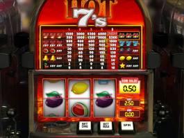 Zábavný casino automat Hot 7's bez stahování