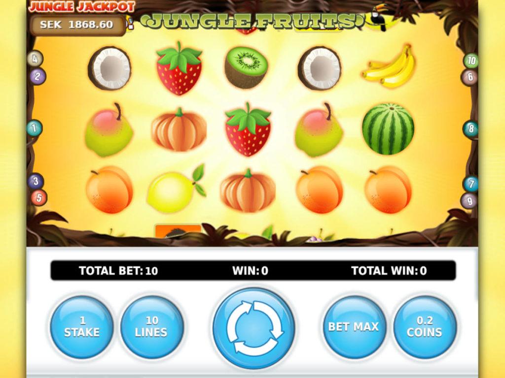 Obrázek z online casino automatu Jungle Fruits