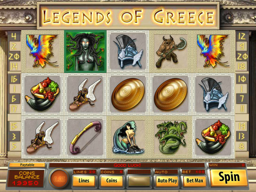Casino automat Legends of Greece