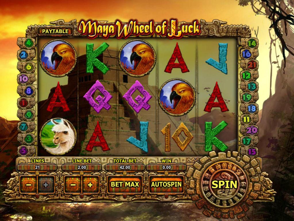 Online herní automat Maya Wheel of Luck