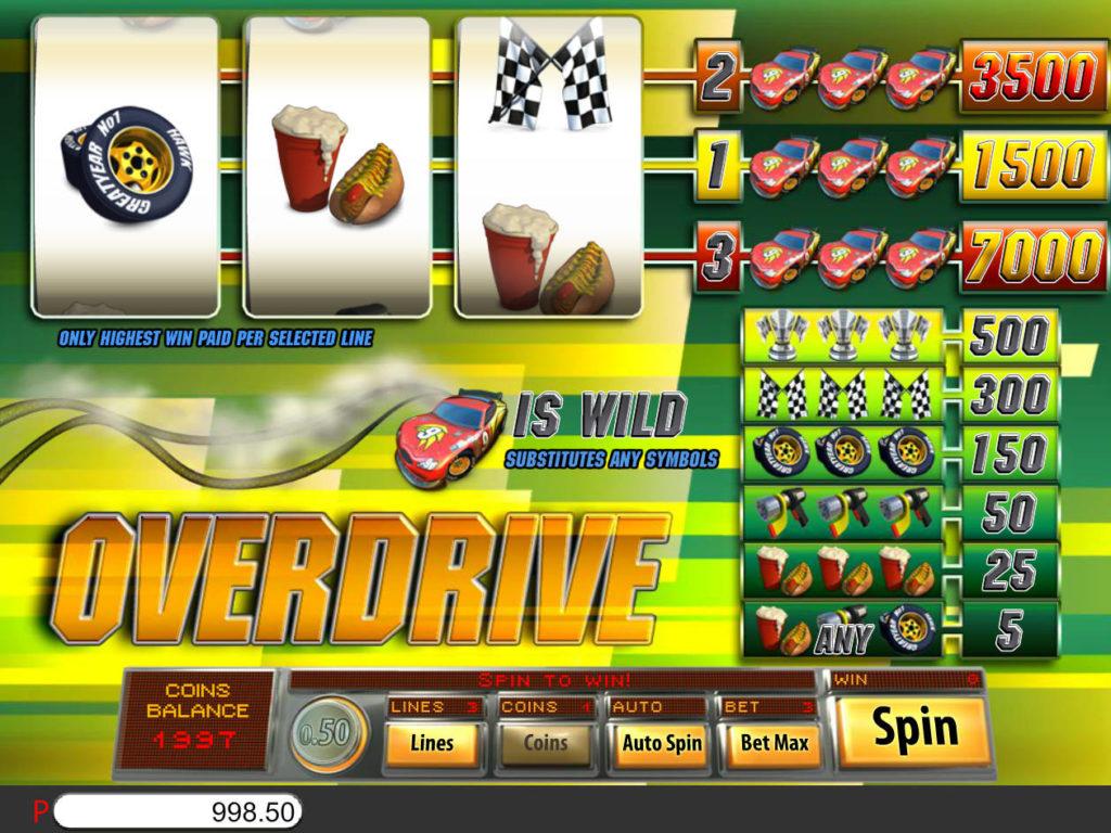 Obrázek z casino automatu Overdrive zdarma