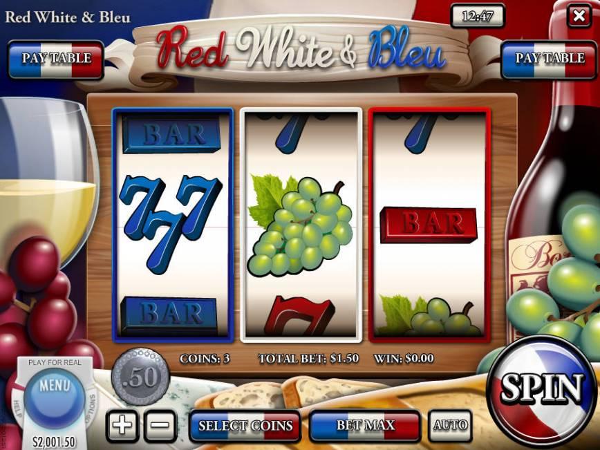 Casino automat Red, White and Bleu zdarma
