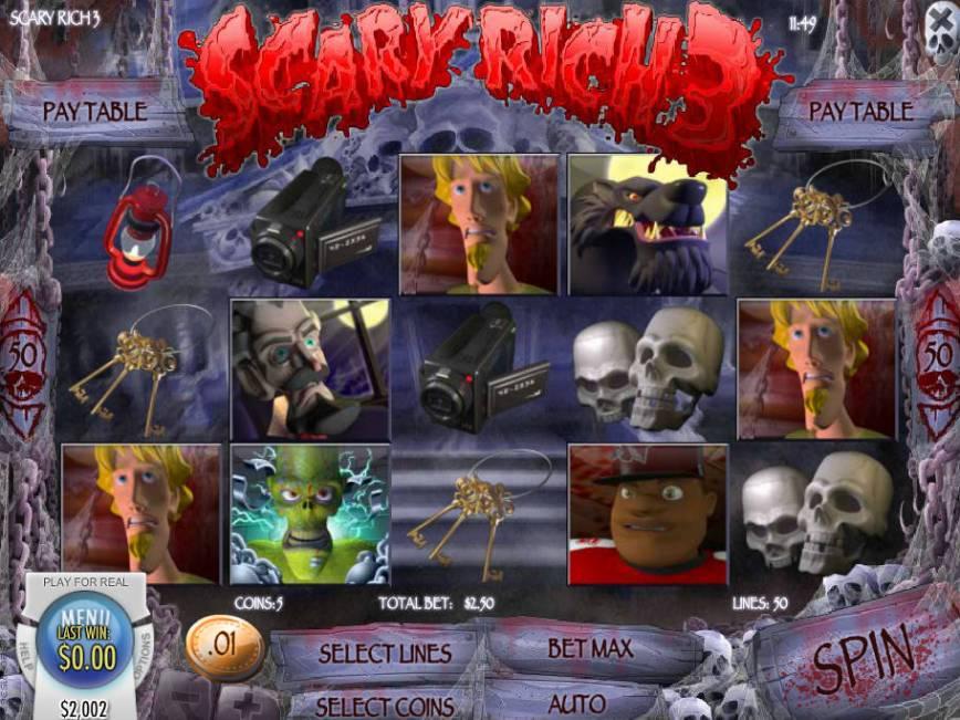 Online herní automat Scary Rich 3 bez vkladu