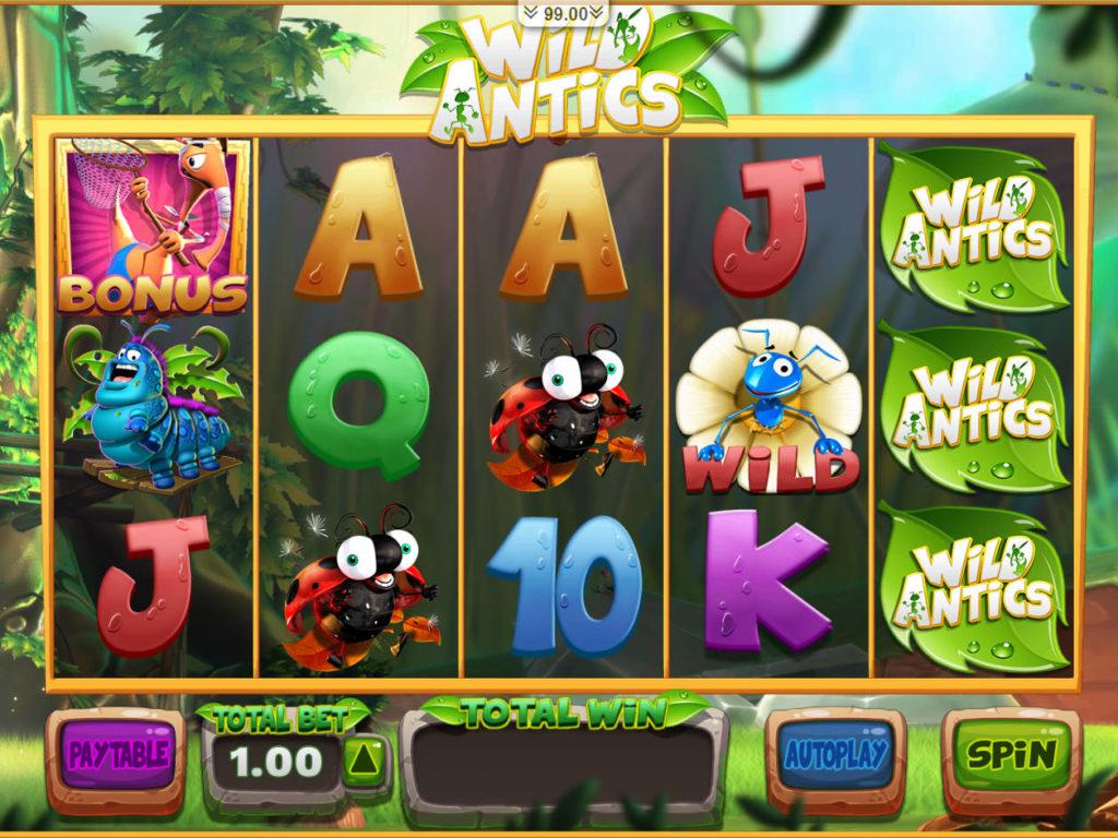 Casino automat Wild Antics bez stahování