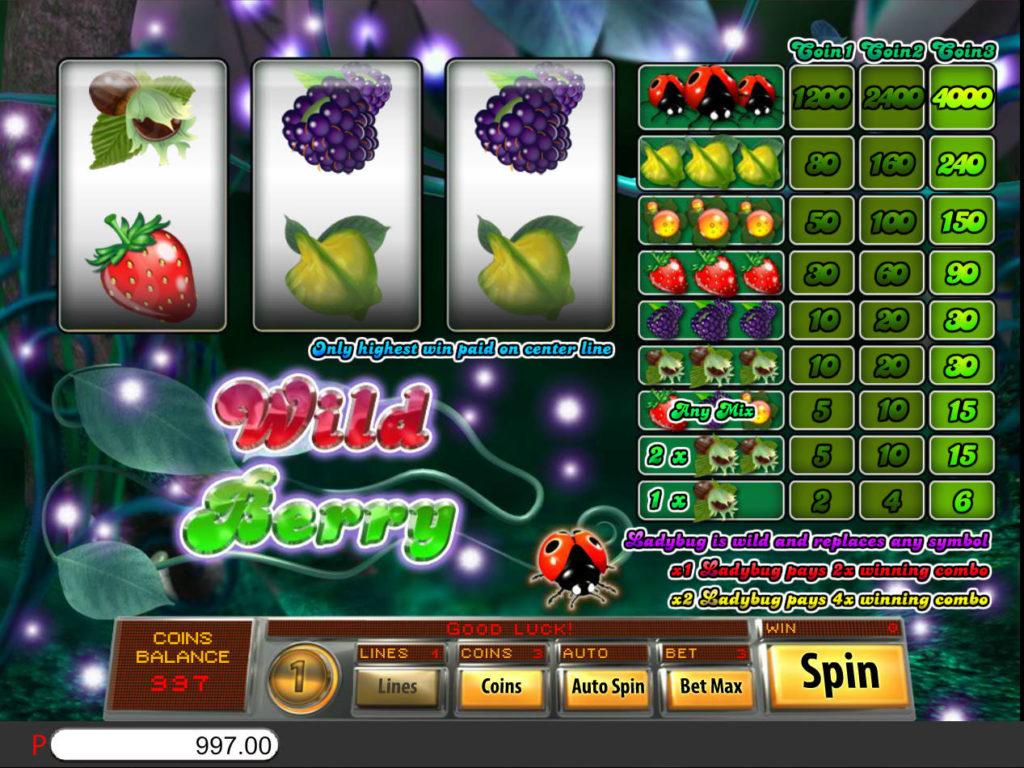 Zahrajte si výherní automat Wild Berry 3-reel