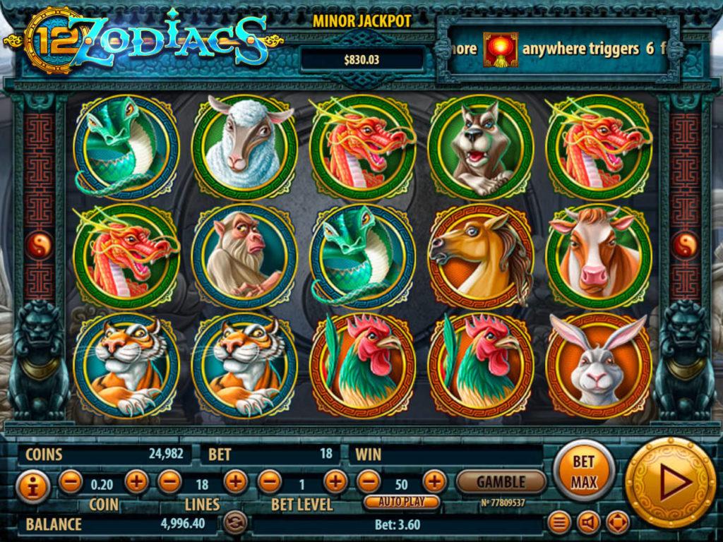 Casino automat 12 Zodiacs bez stahování od společnosti Habanero