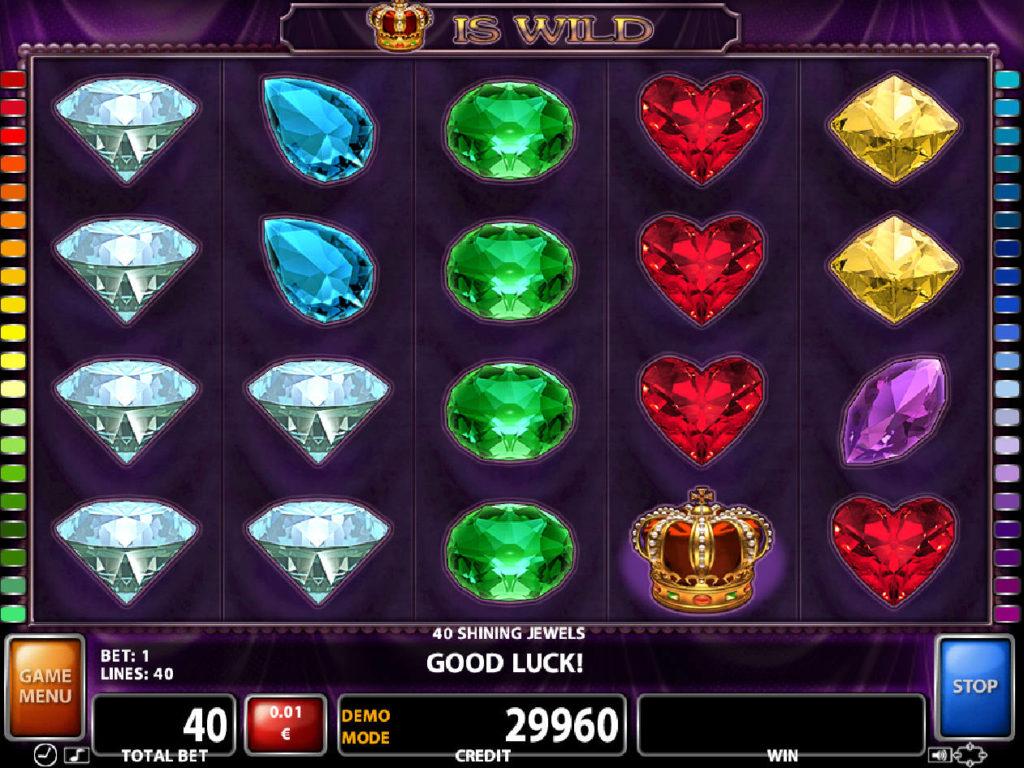 Zábavný casino automat 40 Shining Jewels zdarma