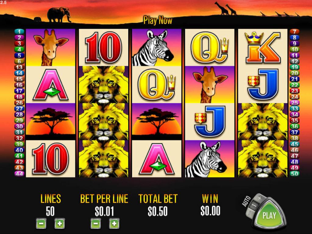 Online casino automat 50 Lions zdarma