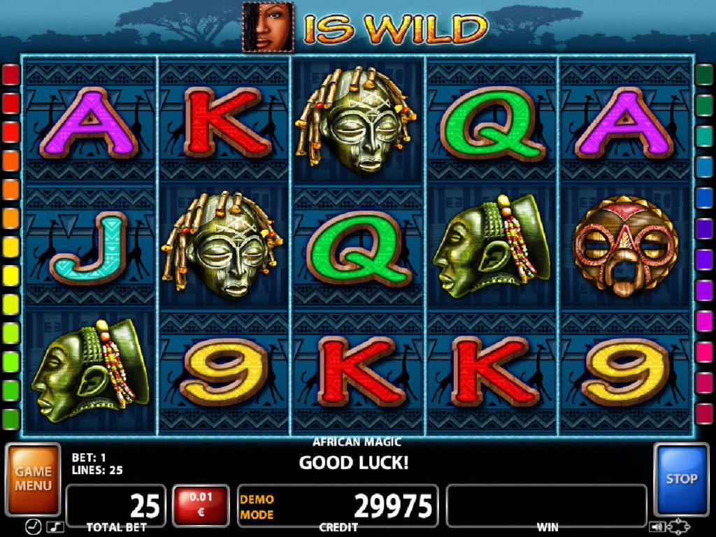 Zábavný herní automat African Magic