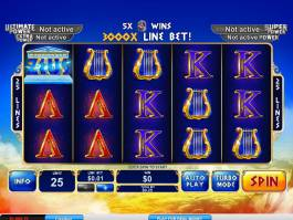 Online casino automat Age of the Gods: King of Olympus zdarma