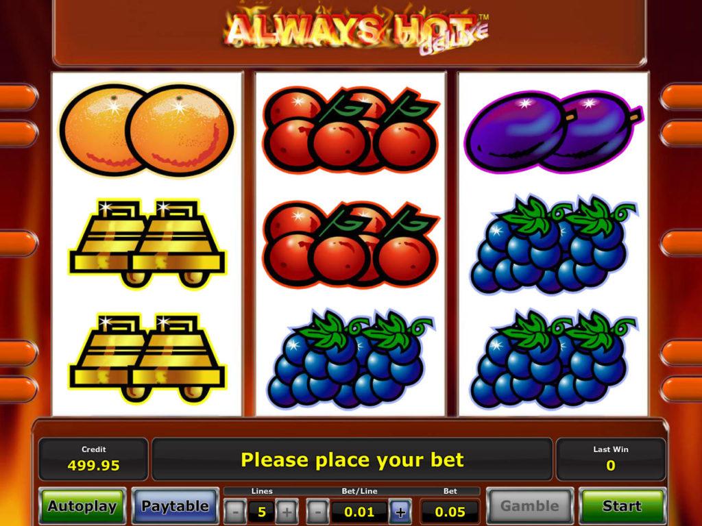 Herní automat Always Hot Deluxe online, pro zábavu