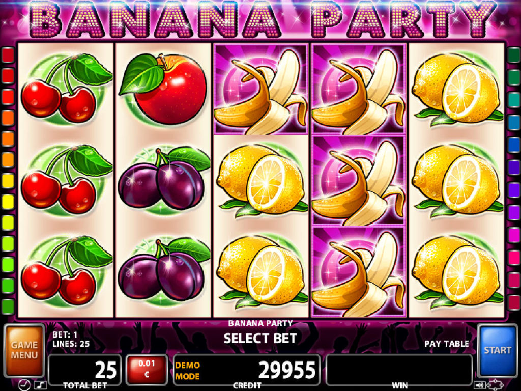 Casino automat Banana Party zdarma