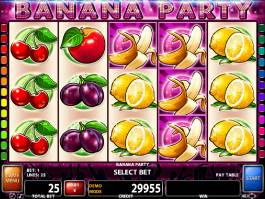 Casino automat Banana Party zdarma