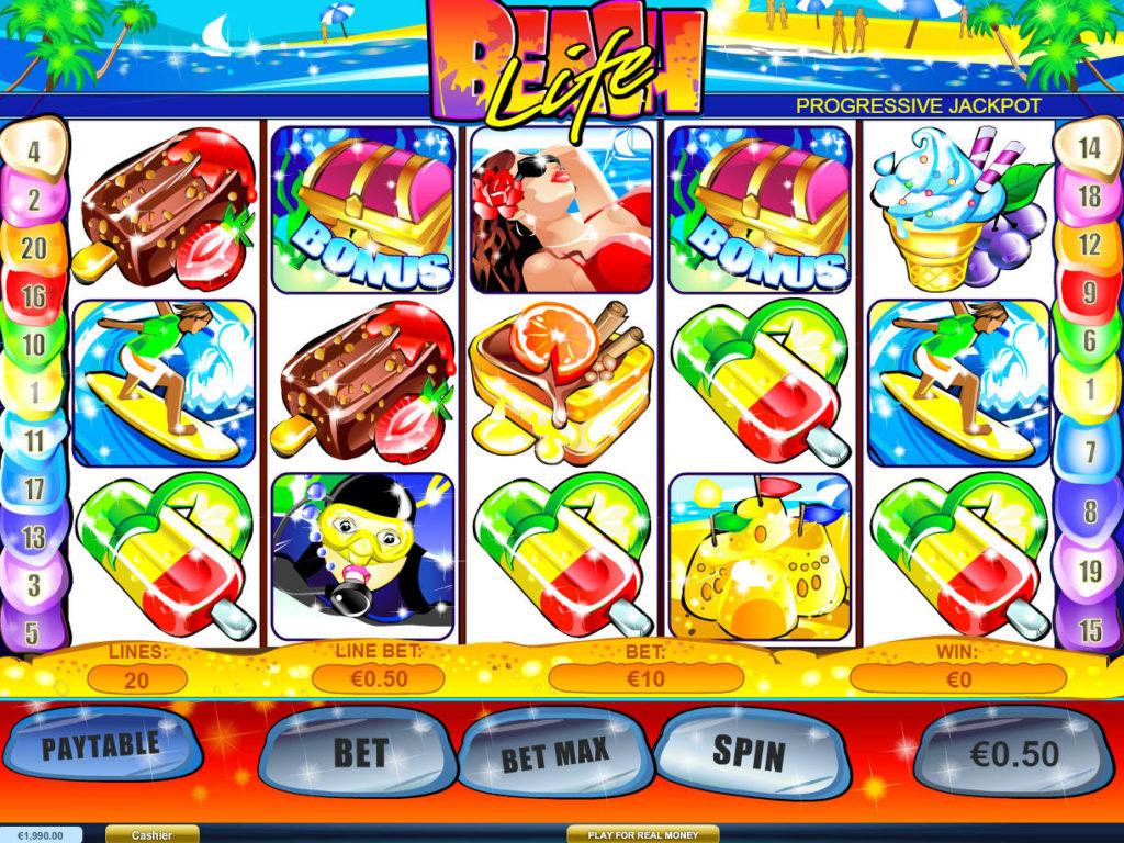 Beach Life herní automat zdarma