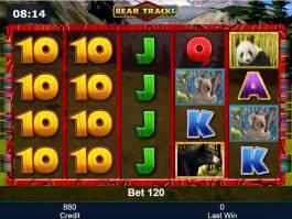 Online casino automat Bear Tracks zdarma
