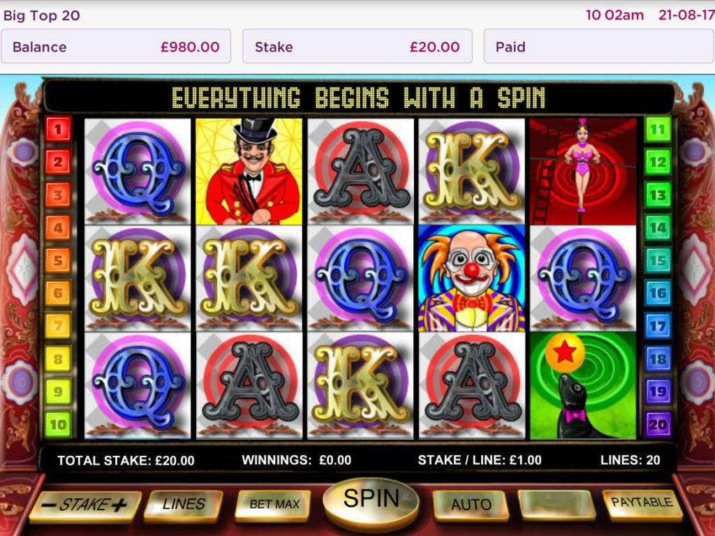 Obrázek z herního automatu Big Top 20 zdarma
