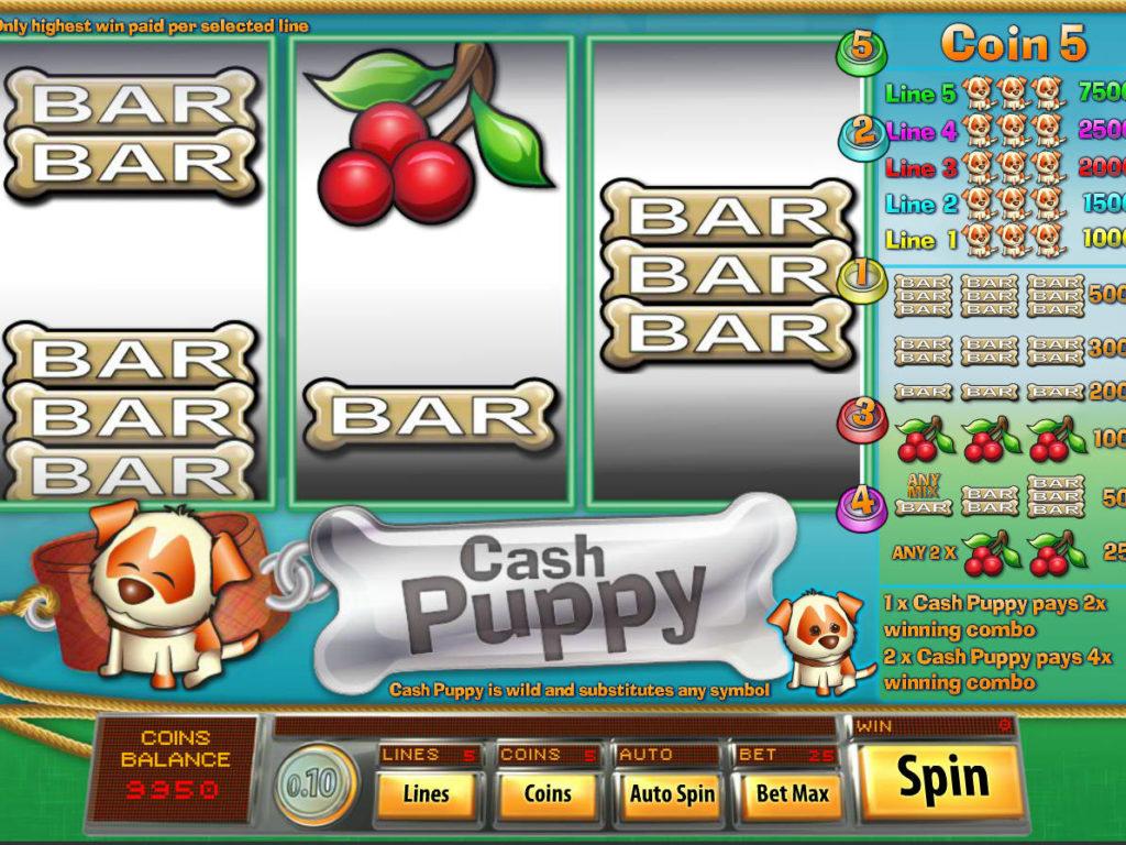 Casino automat Cash Puppy zdarma, bez vkladu