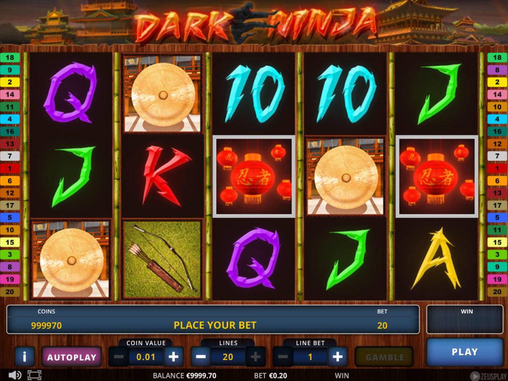 Zahrajte si zábavný online casino automat Dark Ninja zdarma