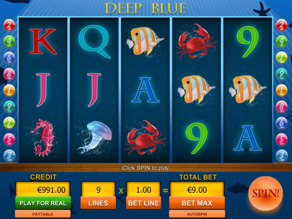 Obrázek z casino automatu Deep Blue