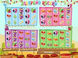 Obrázek z online casino automatu Jalapeno Racers