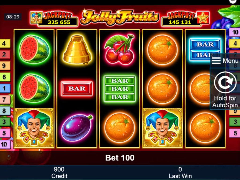 Casino automat Jolly Fruits zdarma