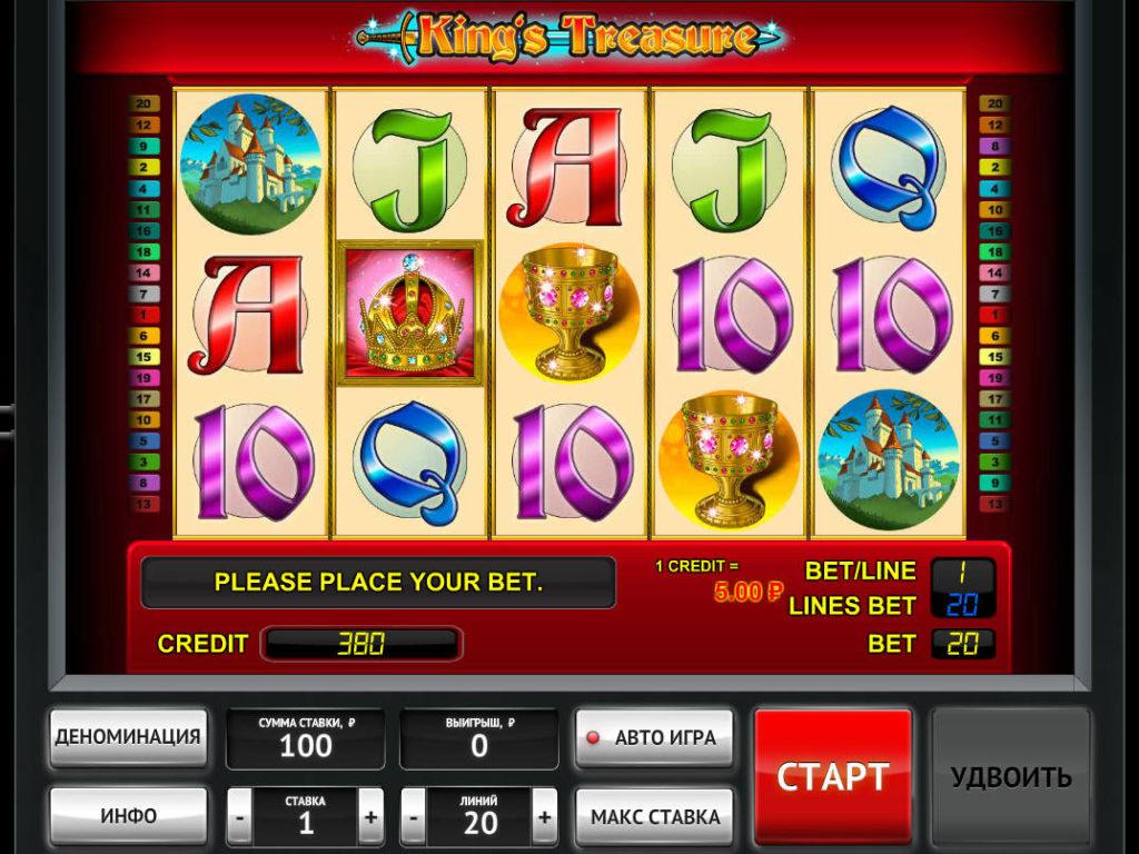 Online casino automat King's Treasure