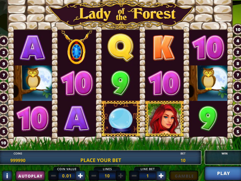 Casino automat Lady of the Forest zdarma