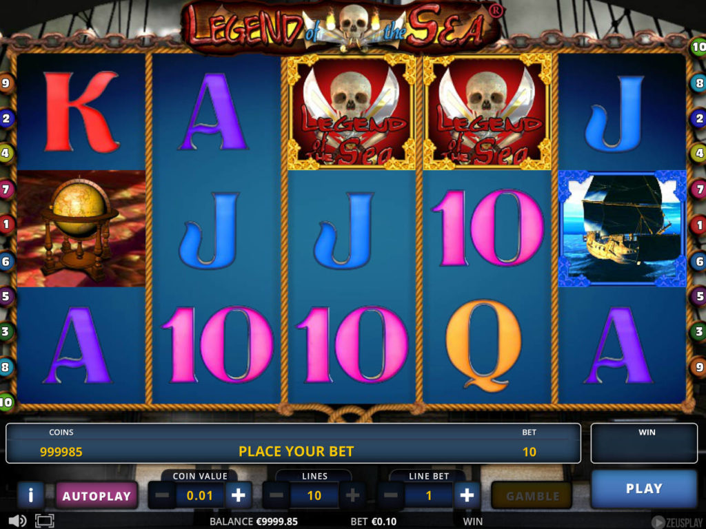 Online casino automat Legend of the Sea zdarma