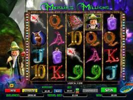 Obrázek ze hry automatu Merlin's Millions