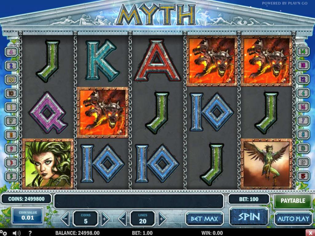 Online casino automat zdarma Myth