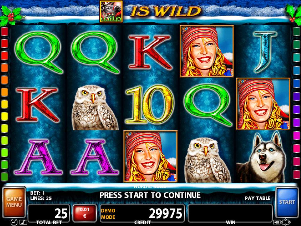 Zábavný online casino automat Nordic Song