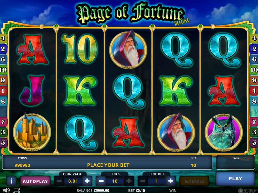 Casino automat Page of Fortune Deluxe zdarma