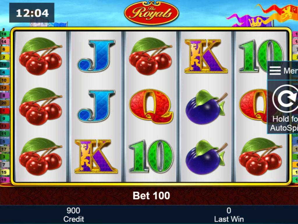 Kasino automat The Royals pro zábavu