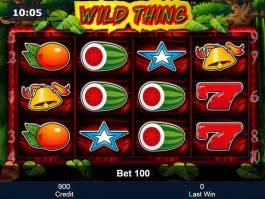 Výherní automat Wild Thing zdarma, bez vkladu