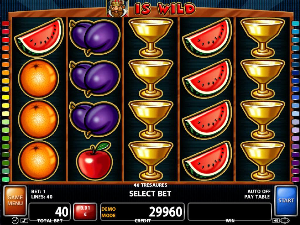 zábavný herní automat 40 Treasures