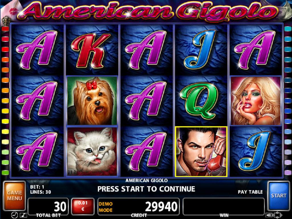 Zahrajte si casino automat American Gigolo online zdarma