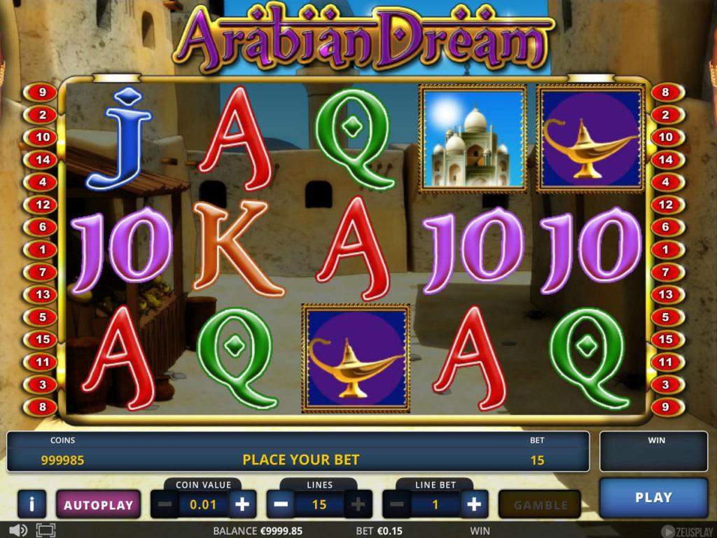 Zahrajte si zábavný casino automat Arabian Dream zdarma