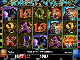 Obrázek casino automatu Forest Nymph